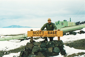 Tony Mokomoto at Scott Base New Zealand